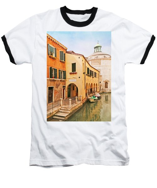 A Venetian View - Sotoportego De Le Colonete - Italy Baseball T-Shirt by Brooke T Ryan