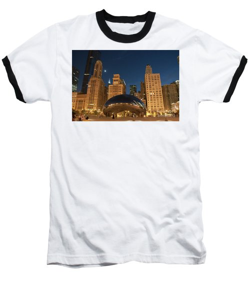A View From Millenium Park At Night Baseball T-Shirt