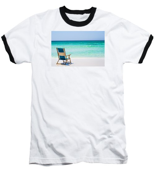 A View Of The Ocean Baseball T-Shirt by Shelby  Young