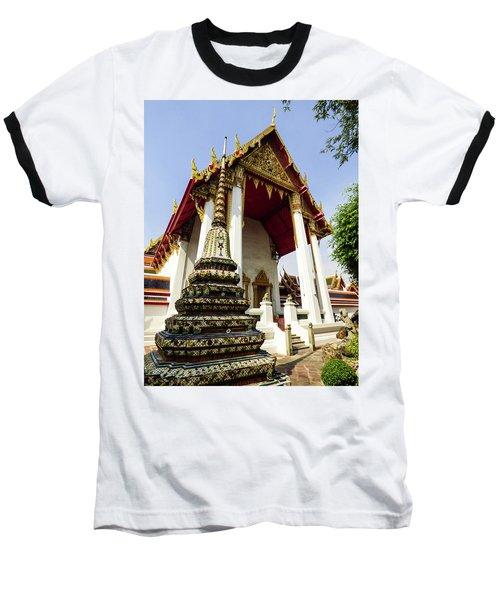 A View Of Wat Pho Temple In Bangkok, Thailand Baseball T-Shirt
