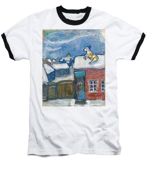 A Village In Winter Baseball T-Shirt
