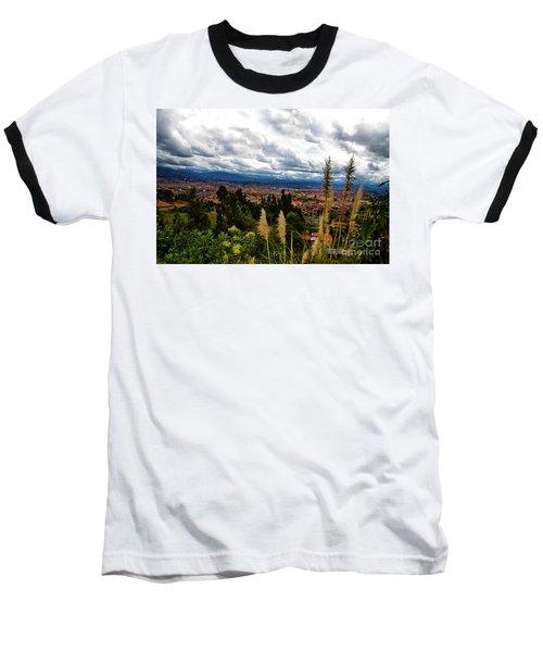 A Vista Of Cuenca From The Autopista Baseball T-Shirt by Al Bourassa