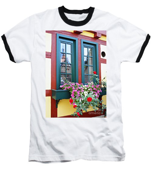 A Window In Eltville  2 Baseball T-Shirt