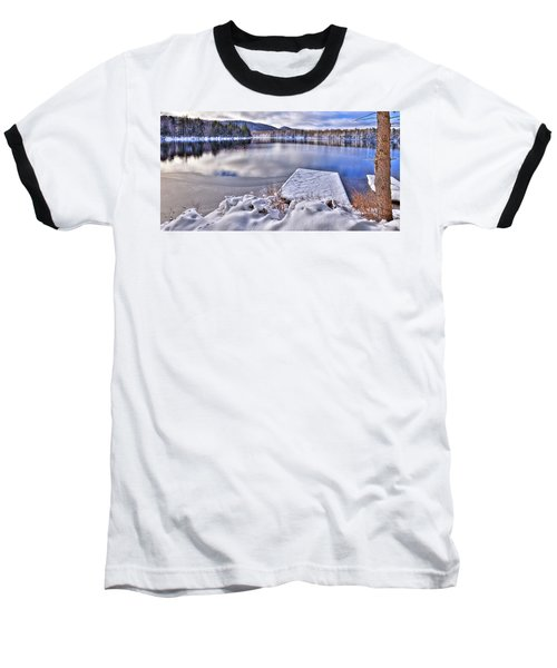 Baseball T-Shirt featuring the photograph A Winter Day On West Lake by David Patterson