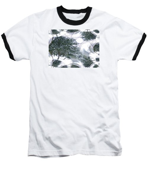 A Winter Fractal Land Baseball T-Shirt