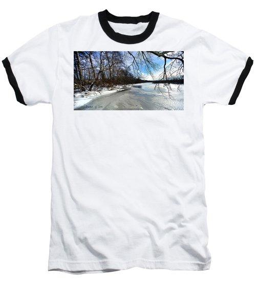 A Winters Day Baseball T-Shirt by Diane Giurco