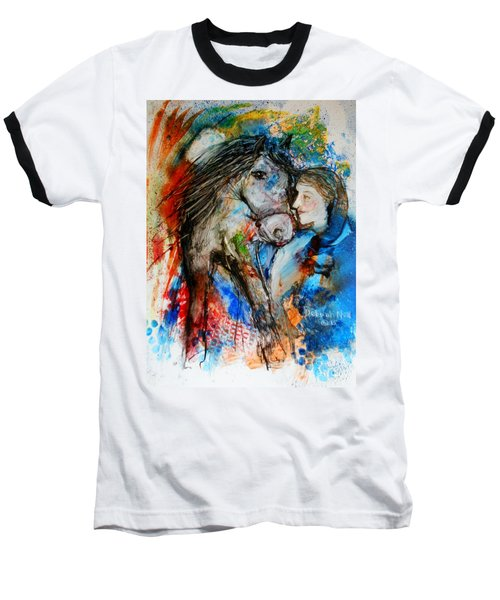 A Woman And Her Horse Baseball T-Shirt