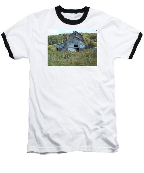 Abandoned Barn Baseball T-Shirt by Catherine Gagne