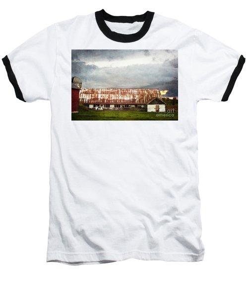 Abandoned Dairy Farm Baseball T-Shirt by Judy Wolinsky