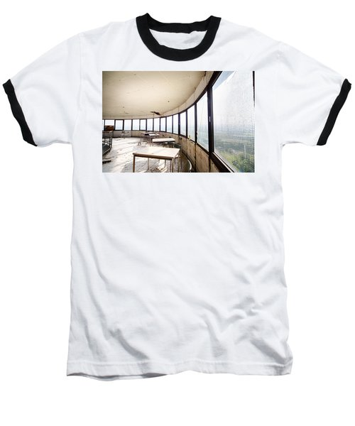 Abandoned Tower Restaurant - Urban Decay Baseball T-Shirt
