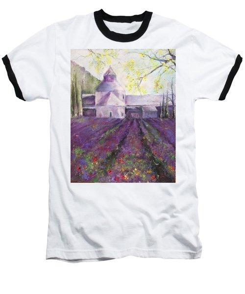 Abbey Senanque    Baseball T-Shirt by Robin Miller-Bookhout