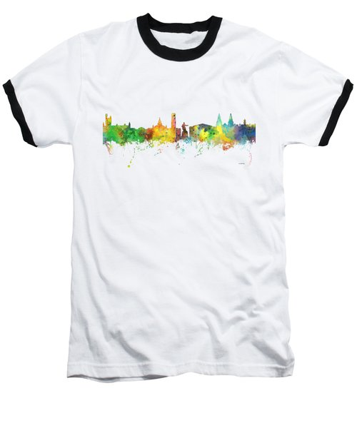 Aberdeen Scotland Skyline Baseball T-Shirt