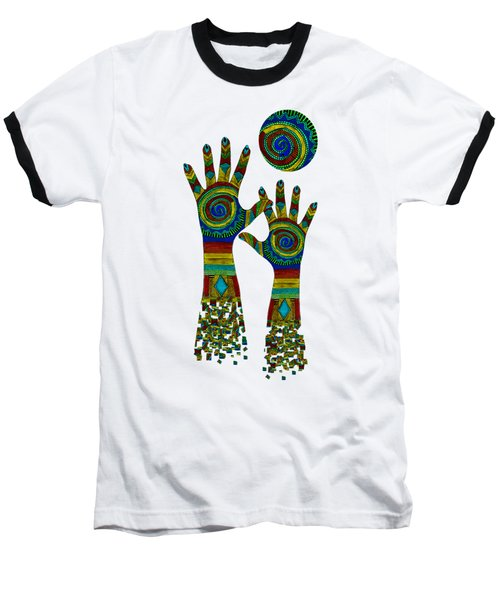 Aboriginal Hands Gold Transparent Background Baseball T-Shirt