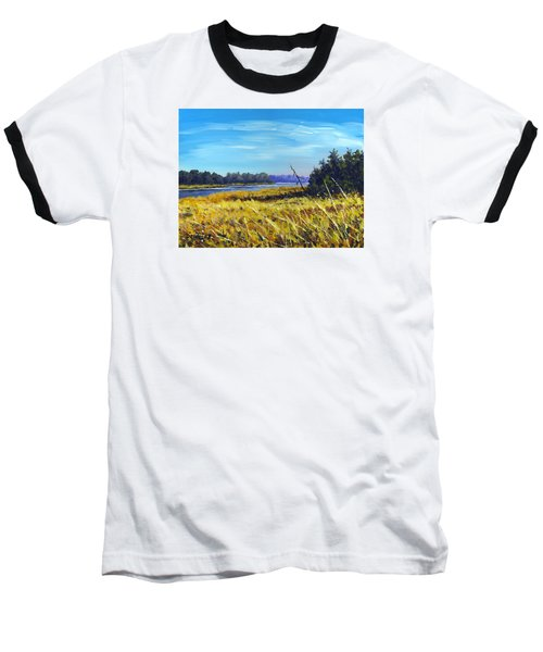 Above The Dam Sketch Baseball T-Shirt