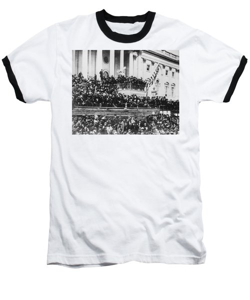 Abraham Lincoln Gives His Second Inaugural Address - March 4 1865 Baseball T-Shirt by International  Images