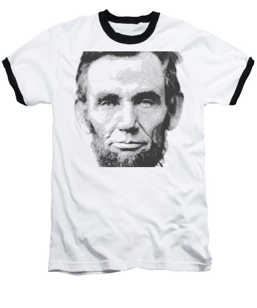 Abraham Lincoln - Parallel Hatching Baseball T-Shirt