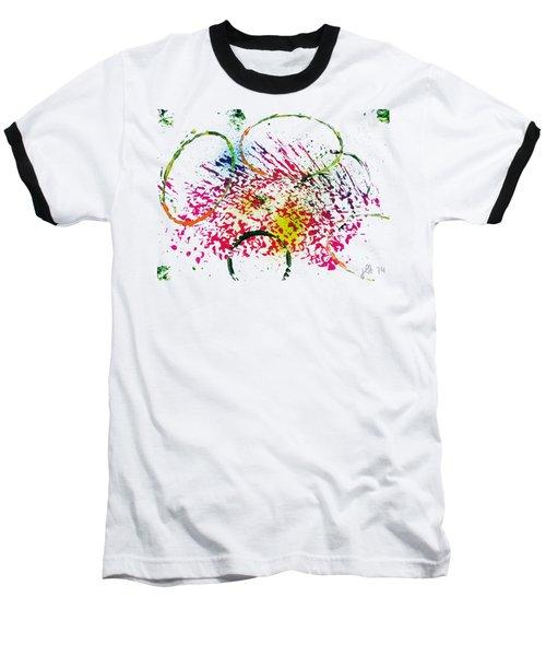 Abstract #2 Baseball T-Shirt by Lori Kingston