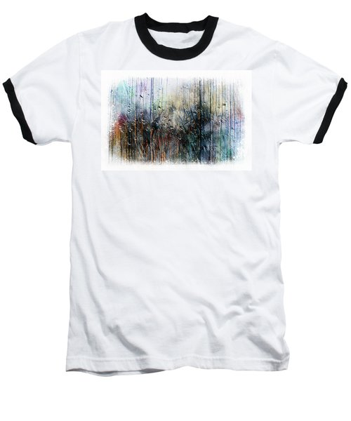 2f Abstract Expressionism Digital Painting Baseball T-Shirt