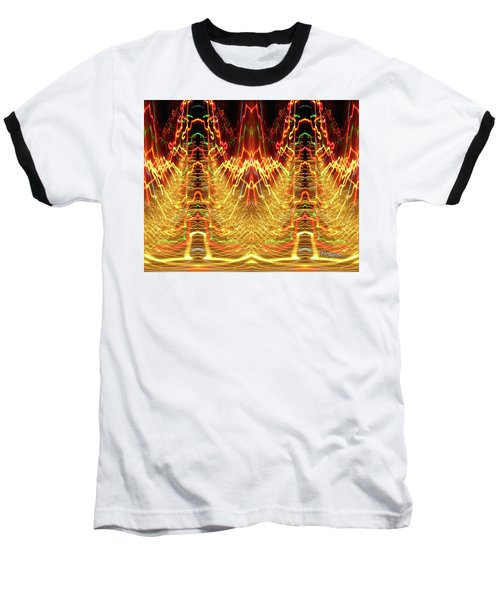 Abstract Christmas Lights #175 Baseball T-Shirt by Barbara Tristan