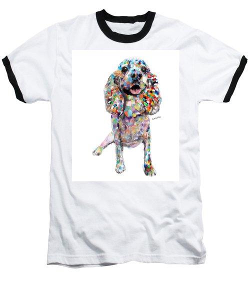 Abstract Cocker Spaniel Baseball T-Shirt