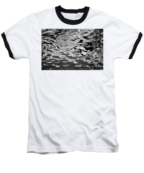 Abstract Dock Reflections I Bw Baseball T-Shirt
