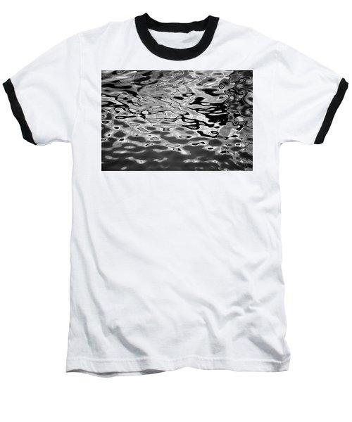 Abstract Dock Reflections I Bw Baseball T-Shirt