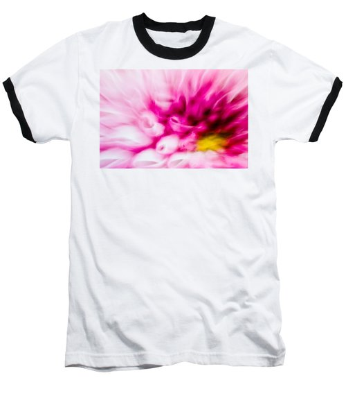 Abstract Floral No. 1 Baseball T-Shirt