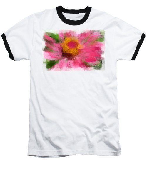 Abstract Flower Expressions Baseball T-Shirt