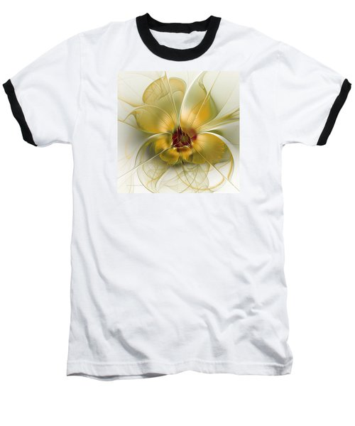 Abstract Flower With Silky Elegance Baseball T-Shirt