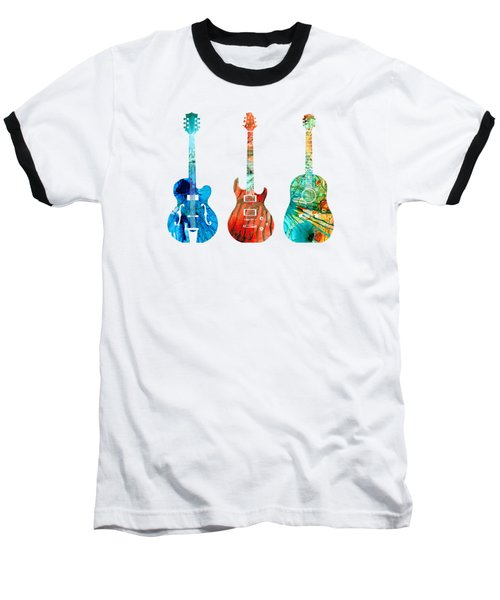 Abstract Guitars By Sharon Cummings Baseball T-Shirt by Sharon Cummings