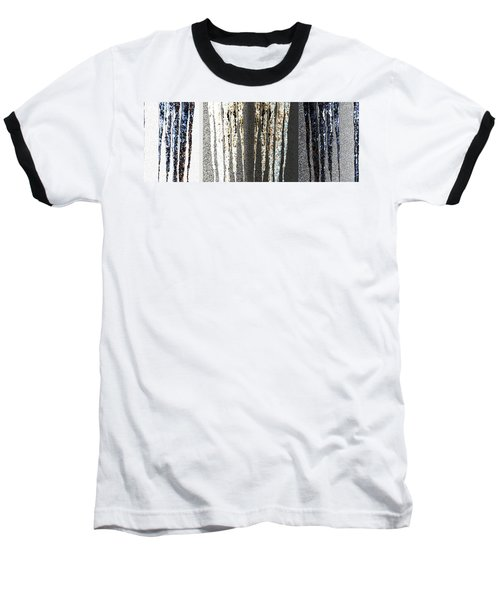 Baseball T-Shirt featuring the digital art Abstract Icicles by Will Borden