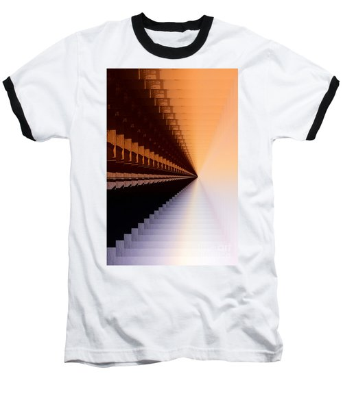 Abstract Industrial Sunrise Baseball T-Shirt by Scott Cameron