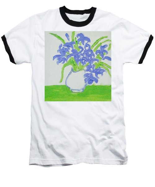 Abstract Iris Baseball T-Shirt by Hae Kim