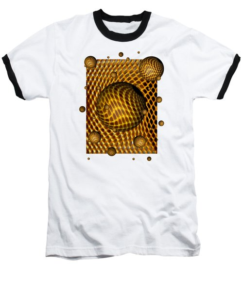 Baseball T-Shirt featuring the digital art Abstract - Life Grid by Glenn McCarthy Art and Photography