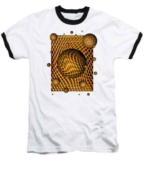 Abstract - Life Grid Baseball T-Shirt