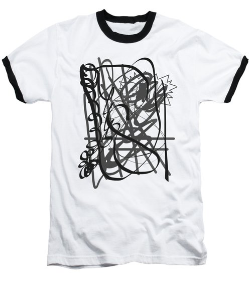 Abstract Baseball T-Shirt by Oksana Demidova