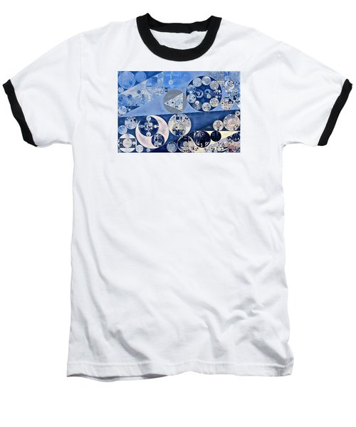 Abstract Painting - Blue Whale Baseball T-Shirt