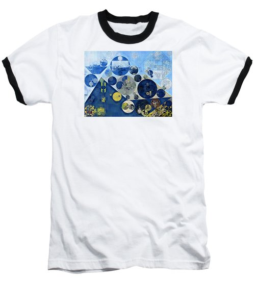 Abstract Painting - Kashmir Blue Baseball T-Shirt
