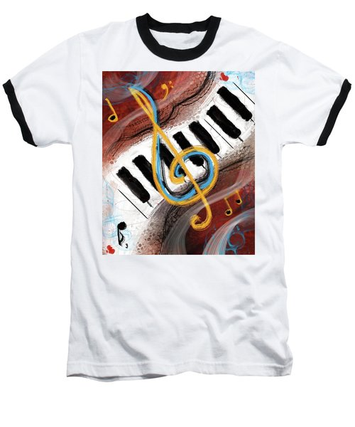 Abstract Piano Concert Baseball T-Shirt