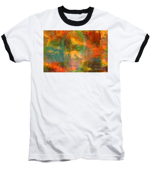 Abstract The World As It Is  Baseball T-Shirt by Sherri's Of Palm Springs