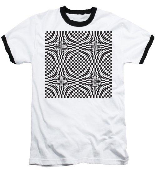 Abstract Vector Pattern Baseball T-Shirt by Michal Boubin