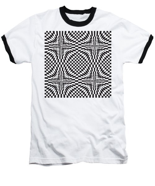 Abstract Vector Pattern Baseball T-Shirt