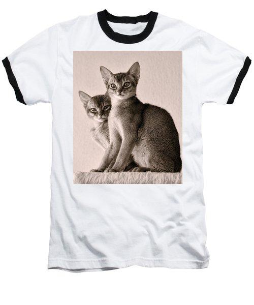 Abyssinian Kittens Baseball T-Shirt