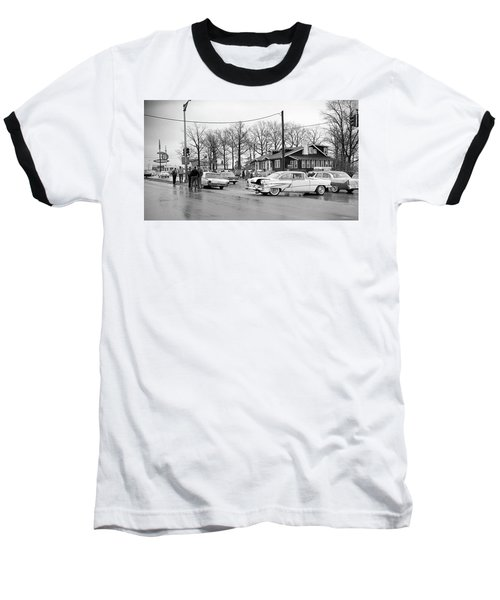 Accident 1 Baseball T-Shirt by Paul Seymour