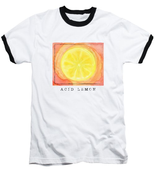 Acid Lemon Baseball T-Shirt by Kathleen Wong