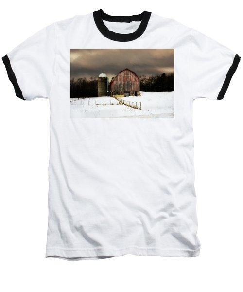 Acorn Acres Baseball T-Shirt by Julie Hamilton