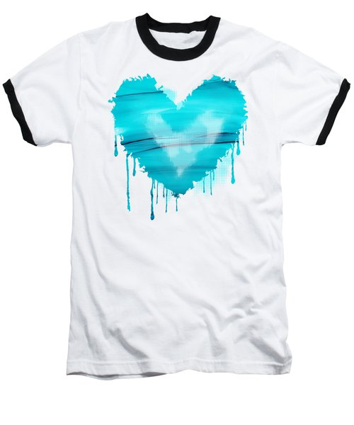 Adrift In A Sea Of Blues Abstract Baseball T-Shirt