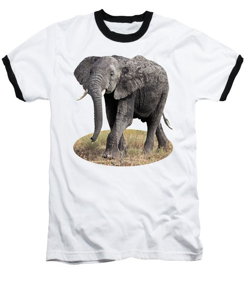 Baseball T-Shirt featuring the photograph African Elephant Happy And Free by Gill Billington