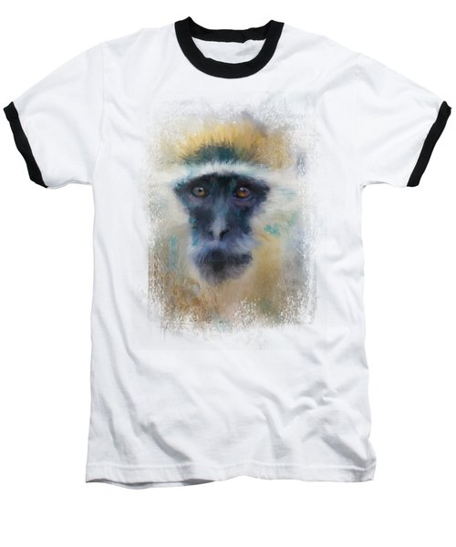 African Grivet Monkey Baseball T-Shirt