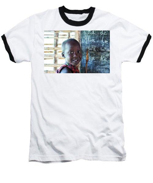 Maasai School Child Baseball T-Shirt